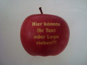 Roter Logo Apfel