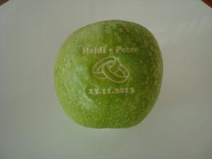Grüner Logo Apfel