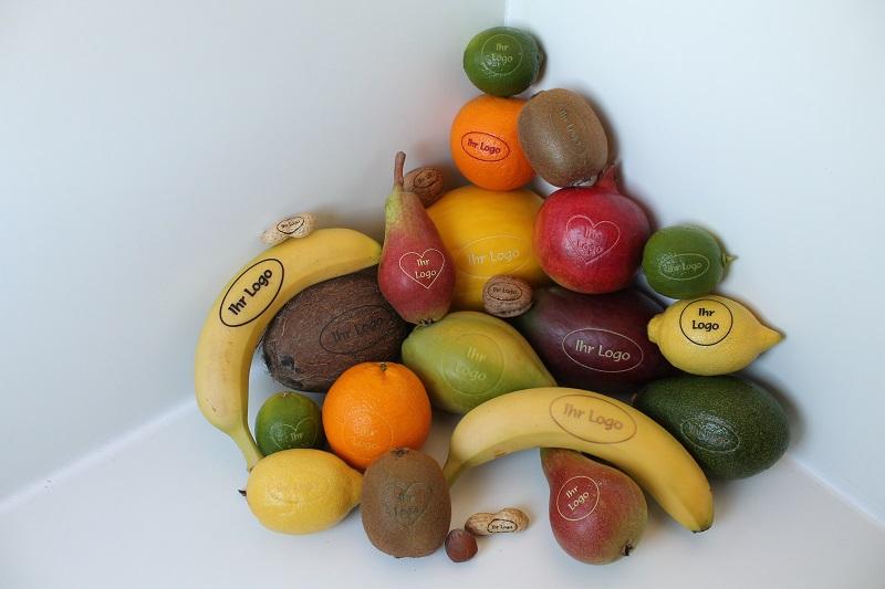 Obst und andere Lebensmittel mit Gravur ? exotische Genüsse ganz persönlich!