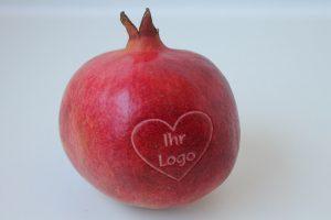 Granatapfel gelasert