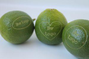 Limette mit Logo