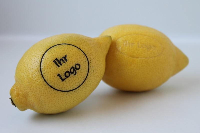 Zitrone mit Logo